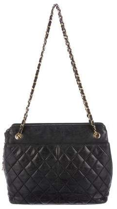 Chanel Vintage Lambskin Quilted Shopping Tote