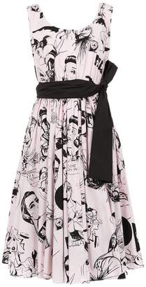 Prada comic book print sundress