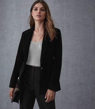 Reiss CARIE JACKET CORDUROY TAILORED BLAZER Black