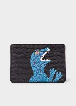 Paul Smith Men's Black 'Dino' Print Leather Credit Card Holder