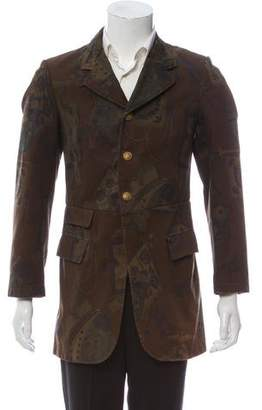 Dries Van Noten Three-Button Military Jacket