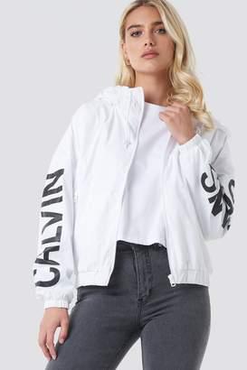 Calvin Klein Nylon Windbreaker Bright White