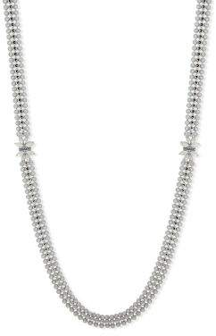 Jenny Packham White Opal and Crystal Three-Row Necklace