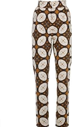 Relax Baby Be Cool Womens Cigarette Trousers Kawung