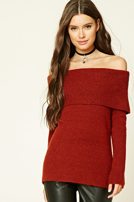 FOREVER 21+ Off-the-Shoulder Sweater $24.90 thestylecure.com