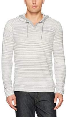 Calvin Klein Men's Long Sleeve Space Dye Fabric Blocked Cross Over Hoodie