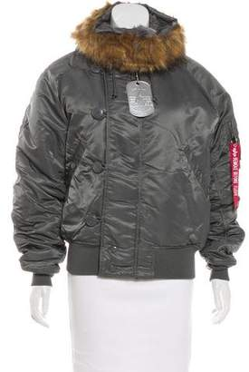 Alpha Industries Faux Fur-Trimmed Puffer Jacket