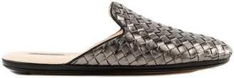 Bottega Veneta Braided Metallic Mules