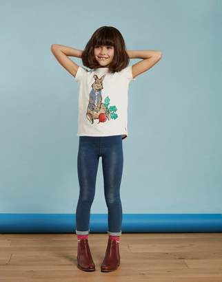 Joules Creme Official peter rabbit movie collection Applique T-Shirt 3- 12yr Size 1yr