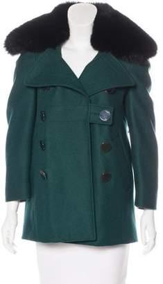Altuzarra Fox-Trimmed Virgin Wool Jacket