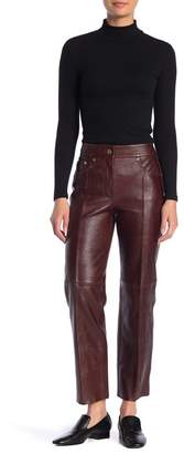 Helmut Lang Cropped Leather Pants