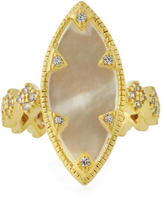 Freida Rothman Textured Mother-of-Pearl Eyelet Ring, Size 7