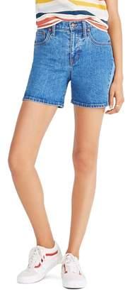 Madewell High Waist Pieced Denim Shorts