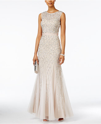 Adrianna Papell Sequined Mermaid Gown $359 thestylecure.com