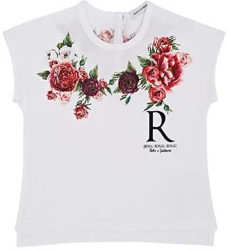Dolce & Gabbana Infants' Rose-Print Cotton T-Shirt