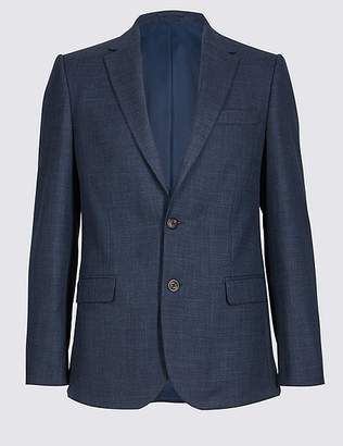 Marks and Spencer Textured 2 Button Slim Fit Jacket