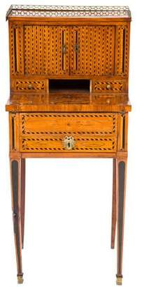 Antique Marquetry Secretary Writing Desk