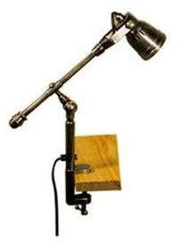 Seattle Desk Clamp Lamp in Antique Brass