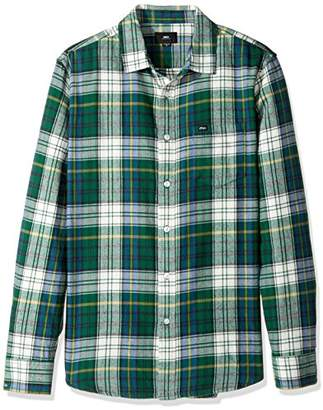 Obey Men's Aiden Regular Fit Woven Long Sleeve