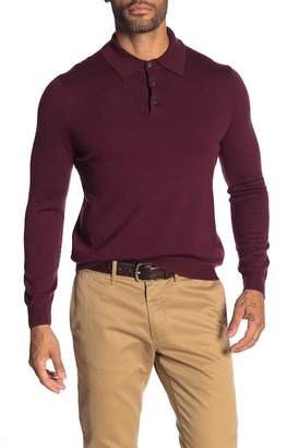 Brooks Brothers Long Sleeve Merino Wool Polo