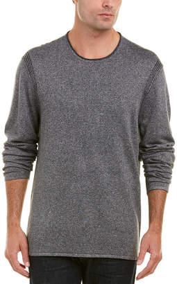 John Varvatos . Crew Linen-Blend Sweater
