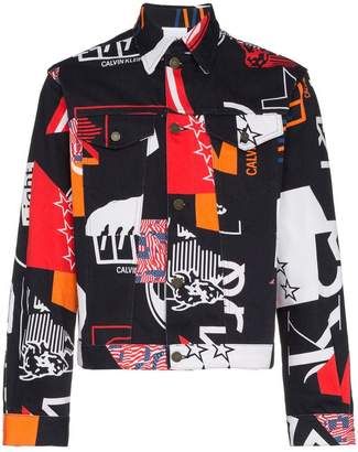 Calvin Klein Jeans Est. 1978 Modernist print denim jacket