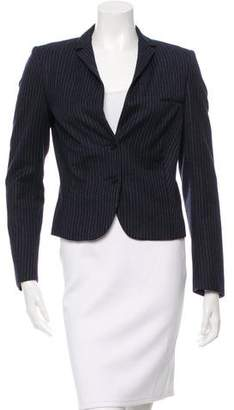 Calvin Klein Collection Wool & Cashmere-Blend Fitted Blazer