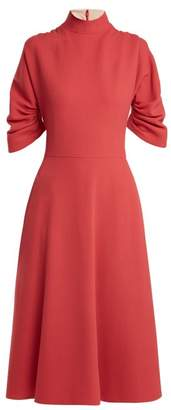 Emilia Wickstead Marvel Wool Crepe Dress - Womens - Pink