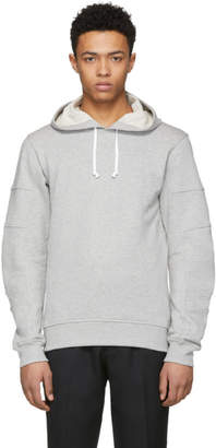 Comme des Garcons Grey Panelled Sleeve Hoodie