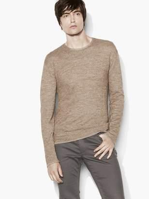 John Varvatos Silk Alpaca Linen Crew Neck