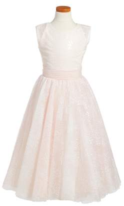 Joan Calabrese for Mon Cheri Sequin Tulle Dress