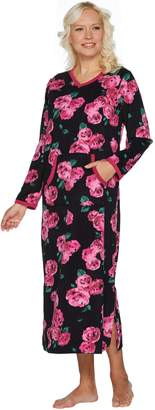 Stan Herman V-Neck Printed Lounge Dress
