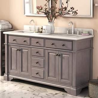 Essie Darby Home Co 60 Double Vanity Set with Backsplash