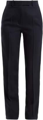 Calvin Klein Side-stripe straight leg wool trousers