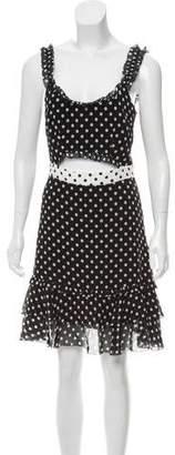 Intermix Silk Polka Dot Dress