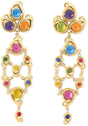 Tamara Comolli Paisley Multicolor Cabochon Drop Earrings