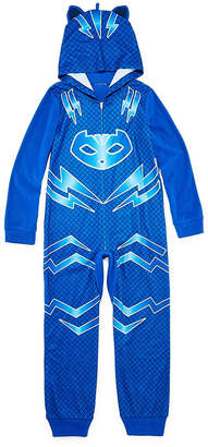 PJ MASKS Long Sleeve One Piece Pajama-Preschool Boys