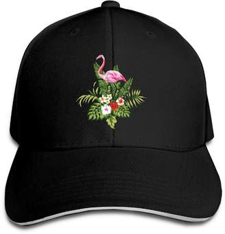 Flamingos PLWYZAJYb Unisex Casual Pink Birds Snapback Sandwich Cap Peaked  Trucker Cap 72f66bd3b0e0