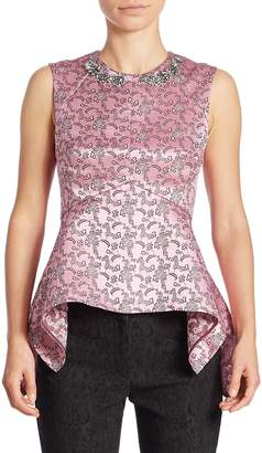 Erdem Women's Isla Beaded Peplum Top