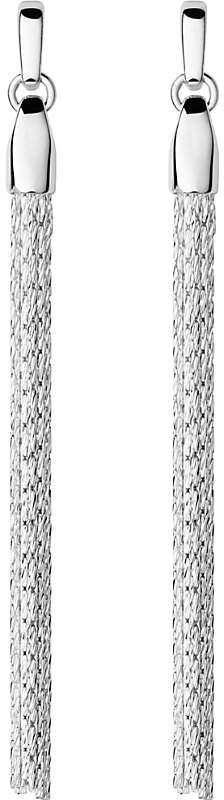 Essentials silver silk row earrings
