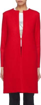 Harris Wharf London Collarless wool melton coat