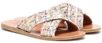 Ancient Greek Sandals Thais tweed leather sandals