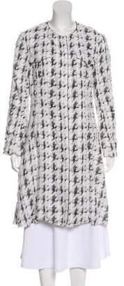 Nina Ricci Textured Collarless Coat