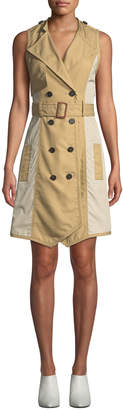 Derek Lam 10 Crosby Sleeveless Belted Trench Dress