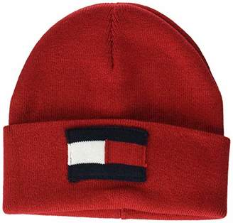 fd50f6a5 Tommy Hilfiger Unisex kids Big Flag Beanie (Tommy Red 614), (Size: