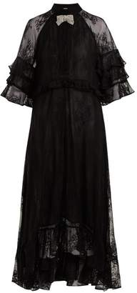 Dodo Bar Or - Rossano Ruffle Trimmed Lace Dress - Womens - Black