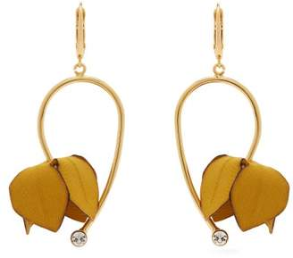 Marni Flora Fabric And Strass Earrings - Womens - Yellow