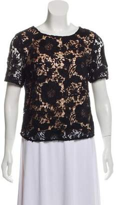 By Malene Birger Lace Short Sleeve Top