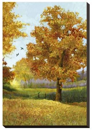 Autumn Tree Stretched Unframed Wall Canvas