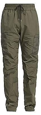 John Elliott Men's High Shrunk Nylon Cargo Pants